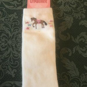 NWT gymboree horse knee high socks 3t 4t 3 4 park
